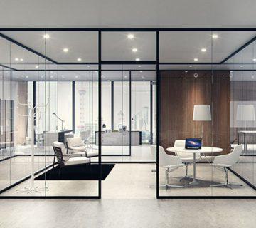 پارتیشن شیشه ای در طراحی دکوراسیون